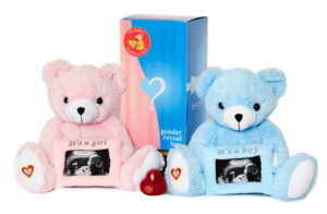 gender reveal heart beat animals