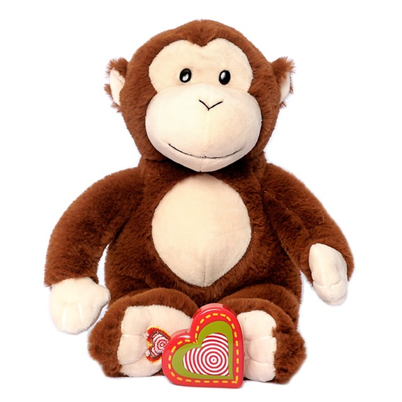 Monkey heartbeat stuffed animal - Monkey