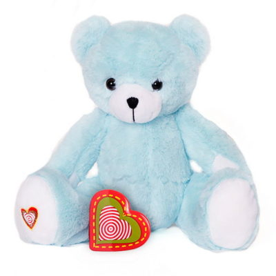 Heart Beat Animals - NO TAG SM BLUE BEAR 400x400
