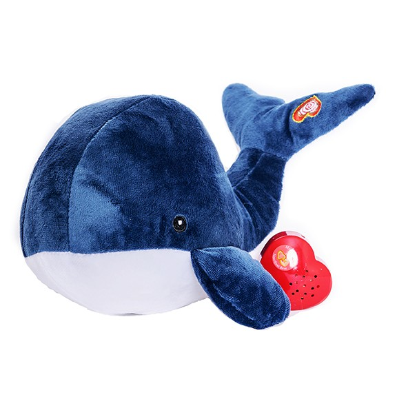 Adorable Heartbeat Stuffed Whale - Whale